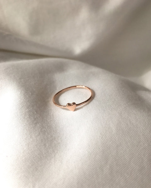 I Heart You Ring in Rose Gold - The Hexad