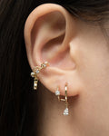 Illusion double hoops designed for ears with only a single piercing