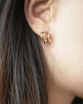 Illusion hoop earrings - Baby Trio Hoops by The Hexad