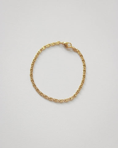 Interlink gold swirl chain bracelet - Rosette by The Hexad Jewelry