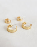 Juju hoop ear studs perfect for stacking - The Hexad hoop earrings