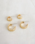 Juju mini hoop earrings in gold - The Hexad