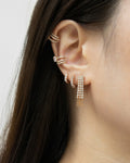 stunning ear jewelry embellished with diamantes for a shiny stack by the hexad