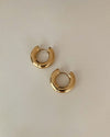Chunky bold hoop huggies in gold - The Hexad