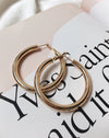 Kyo Hoops in 48mm - Large gold-plated hoop earrings by The Hexad