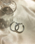 Kyo Hoops in Silver - 38mm in diameter - TheHexad Earrings