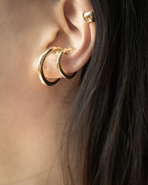 Layer up with The Hexad's Saturn chunky ear cuffs in two sizes - no piercings needed
