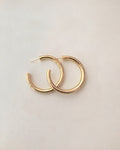 Lightweight gold plated statement hoop earrings @thehexad