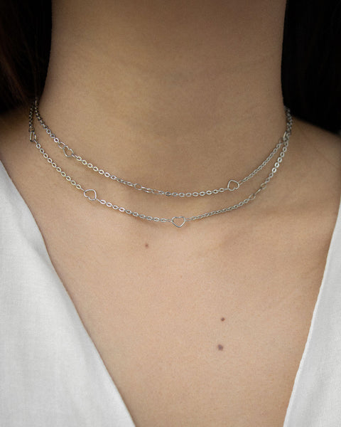 Long chain necklace looped twice as a chic choker - Adore chain by The Hexad