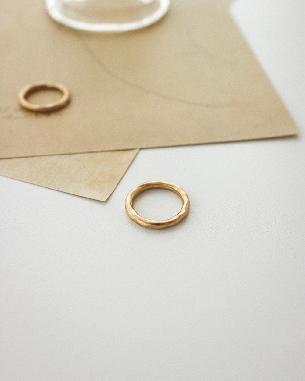 Miami Matte Ring in Gold by The Hexad