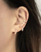 Minimalist diamante hoop earrings and ear cuffs - The Hexad