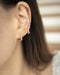 Minimalist ear cuffs with a touch of bling - Moonshine cuffs by The Hexad