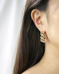 Modern chain hoop earrings for bold statement