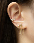 Moonshine ear cuffs and Cable Chain Earrings