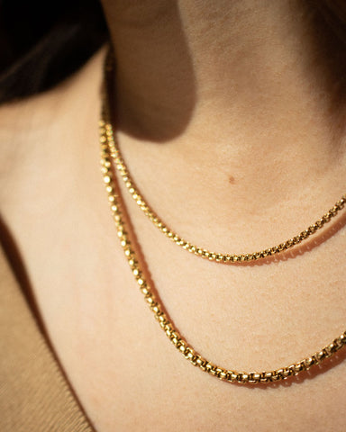 Multiple layered chains - mix and match from The Hexad's Necklace Collection