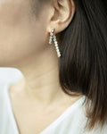 Myriad two ways drop earrings with shiny rhinestones