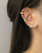 No piercing needed - dream ear stack with Moonshine Ear Cuffs @thehexad