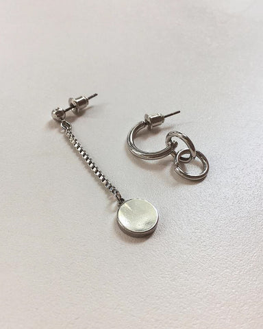 Paradox Mismatch Earrings in Silver - The Hexad