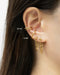 Parallel chain loop earrings and Retractable ear cuffs by The Hexad