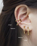 Pierceless hoops crafted for those with no ear piercings - The Hexad