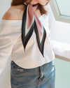 Pink silky scarf styled with a off-shoulder blouse - THE HEXAD