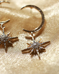 Polaris star faux diamond dangling earrings @thehexad