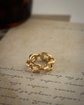 Revel chain ring in gold | The Hexad Jewelry