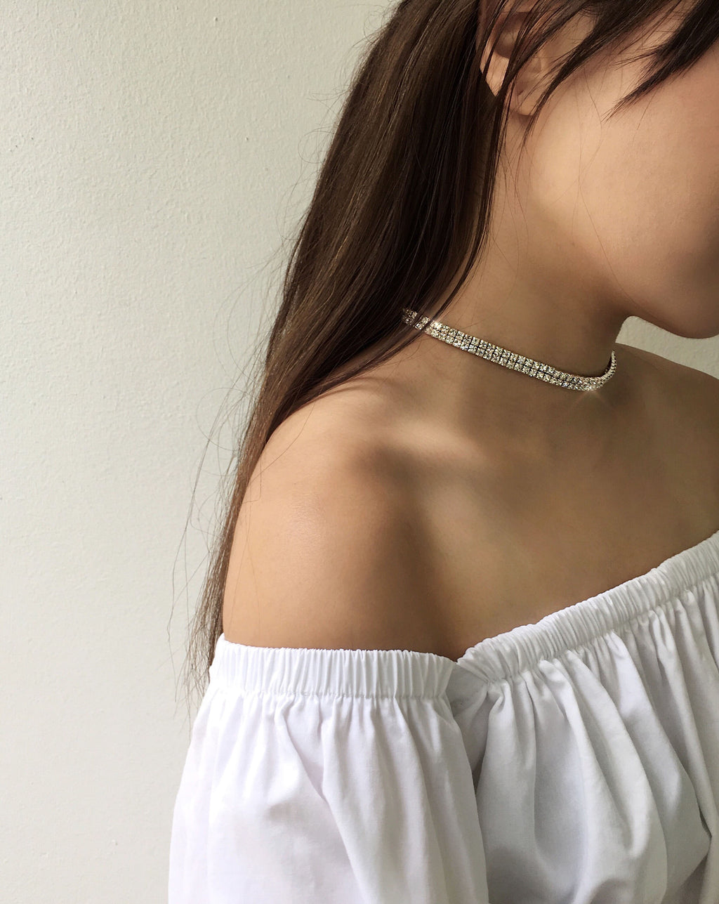Shiny cubic zirconia choker necklace @thehexad