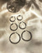 Silver Kyo Hoop Earrings in 3 sizes - 28mm, 38mm and 48mm in diameter - TheHexad