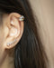 Silver blob ear cuff that wraps around your helix snugly | TheHexad