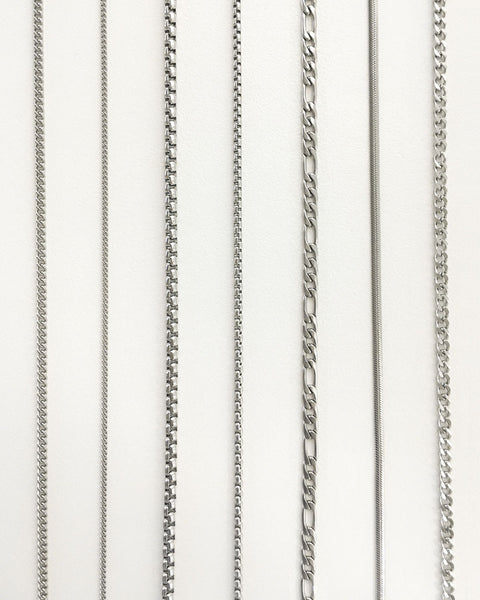Silver chain necklaces perfect for stacking - The Hexad