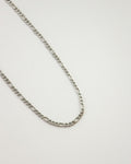 Silver plated chain link necklace - Ellipses chain by @thehexad