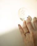 Simple chain design made into a chic ring for everyday wear | The Hexad