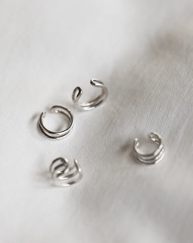 Simple ear cuffs for creating a multiple earrings look - The Hexad