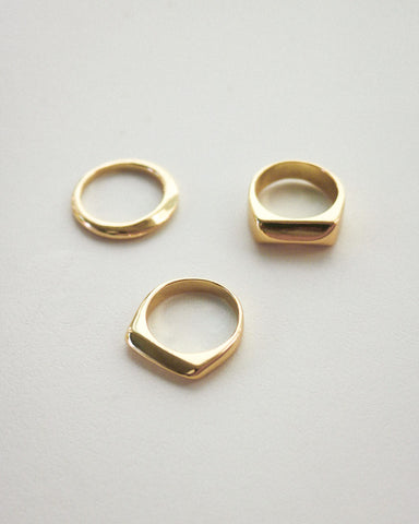 Simple gold rings to layer with - perfect for daily wear @thehexad
