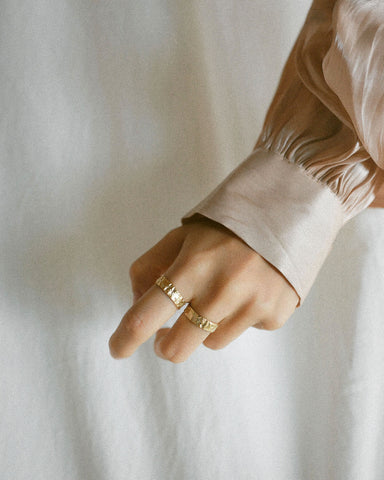 Stack these Geology rings together for a layered look - The Hexad