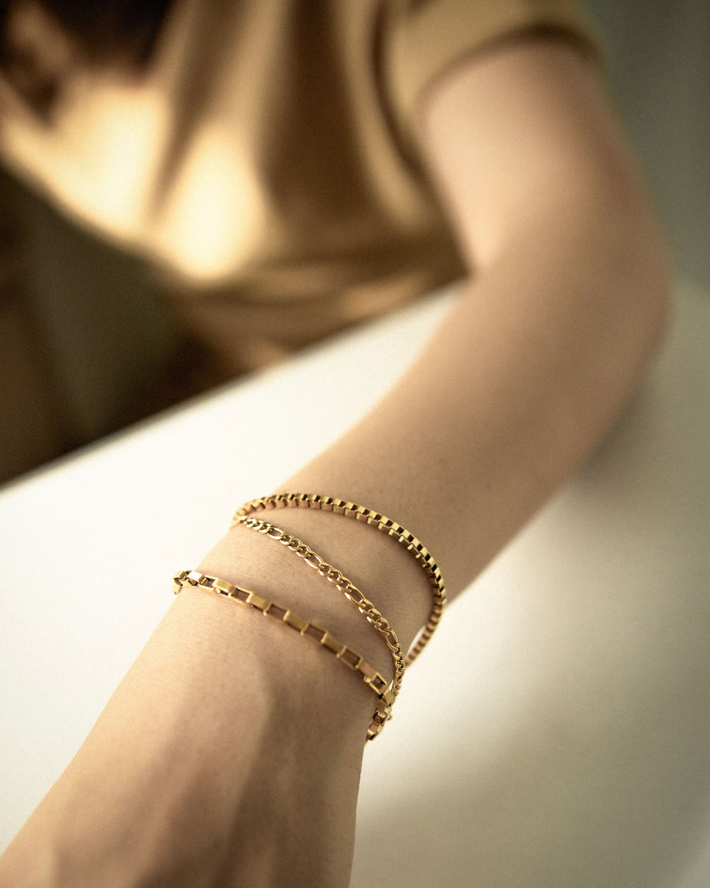 Stackable bracelets look by The Hexad
