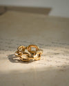 Statement chunky gold ring in a square chain link design | The Hexad Jewelry