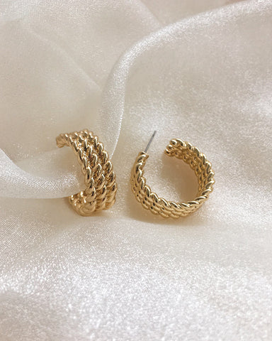 TWISTED Rope Hoops in Gold by THE HEXAD