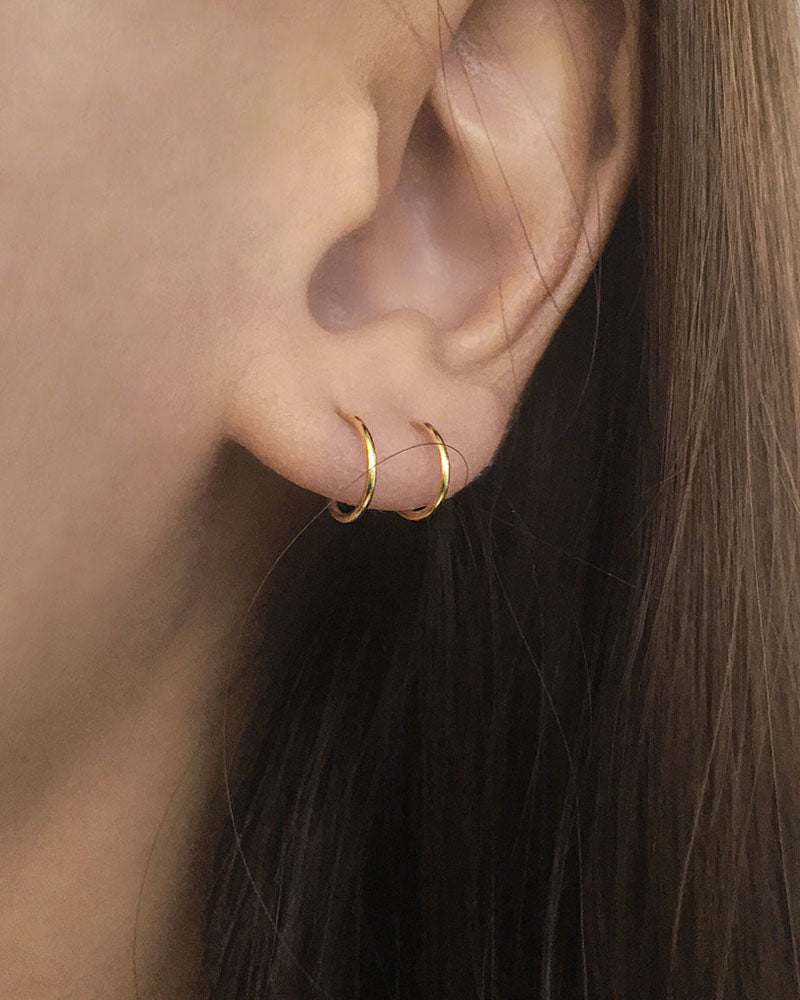 Filament Double Hoops In Gold