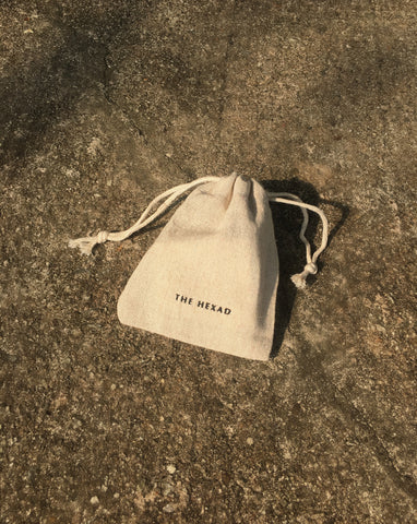 The Hexad's Natural Linen Drawstring Pouch