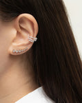 DYNASTY Ear Cuff in Silver