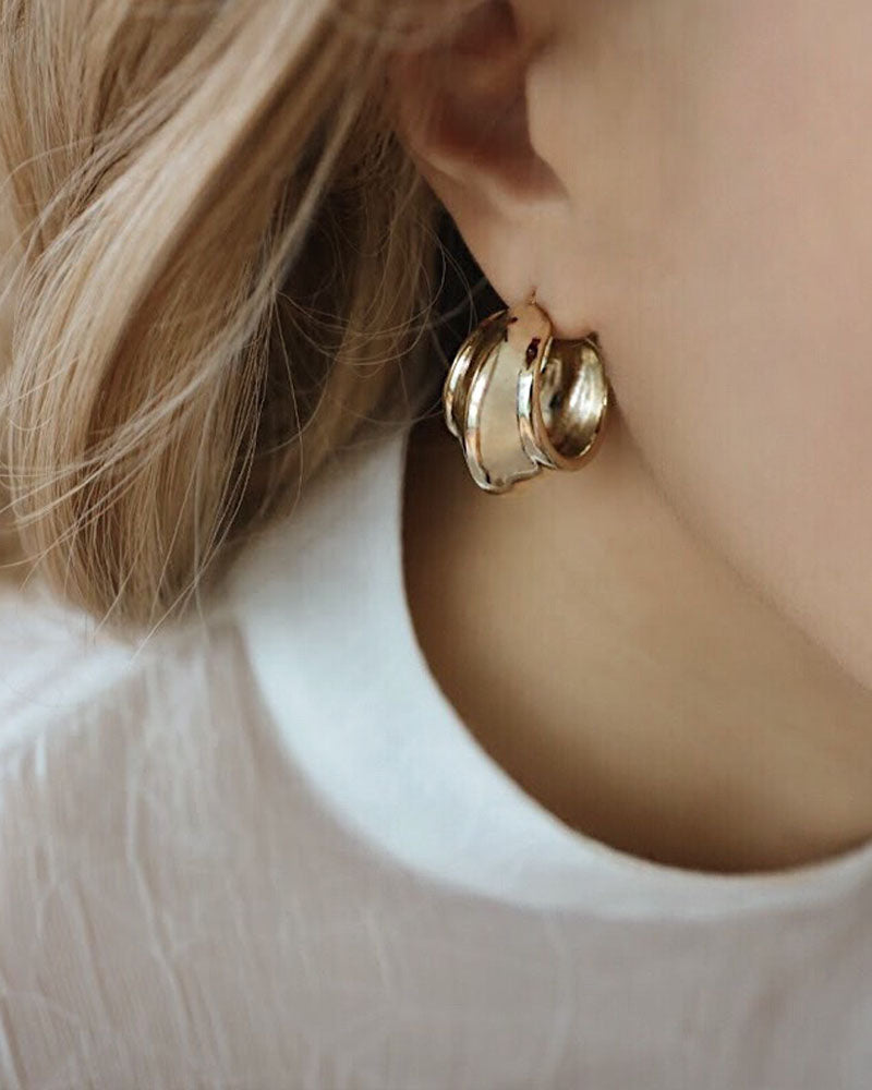 These chunky golden hoops by The Hexad are a real stunner