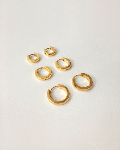 Tiny Ise hoop earrings perfect for layering - The Hexad