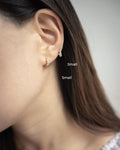 Tiny barely there earrings with a hint of sparkle - The Hexad Jewelry