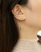 Tiny hollow heart stud with lock and key earrings - TheHexad