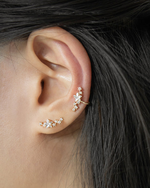 Tiny stars arranged to resemble a part of the night sky - Constellation earrings by The Hexad