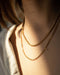 Trendy layered wheat and curb chain necklaces in gold by THE HEXAD