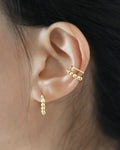 Two layer beaded ear cuffs for pierceless ears @thehexad