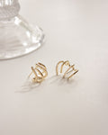 Under lobe hoop earrings for single ear piercing